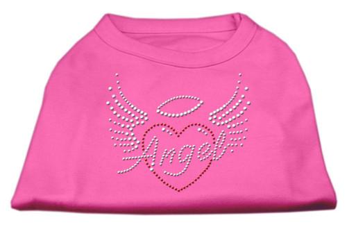 Angel Heart Rhinestone Dog Shirt Bright Pink Sm (10)
