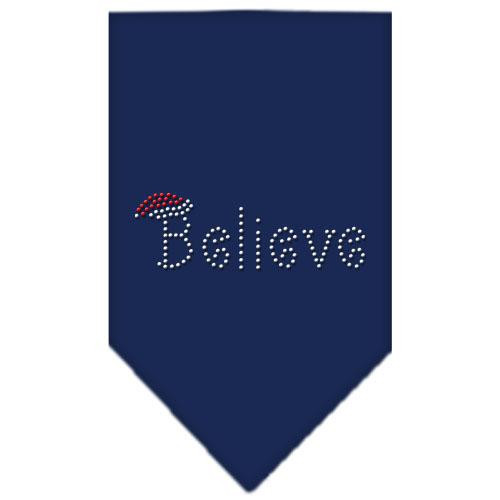 Believe Rhinestone Bandana Navy Blue Large