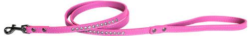 "Clear Jewel Pet Leash 1/2"" Wide X 4' Long Bright Pink"