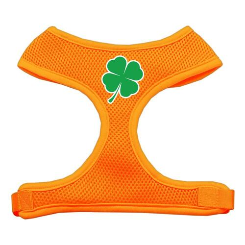 Shamrock Screen Print Soft Mesh Harness Orange Large