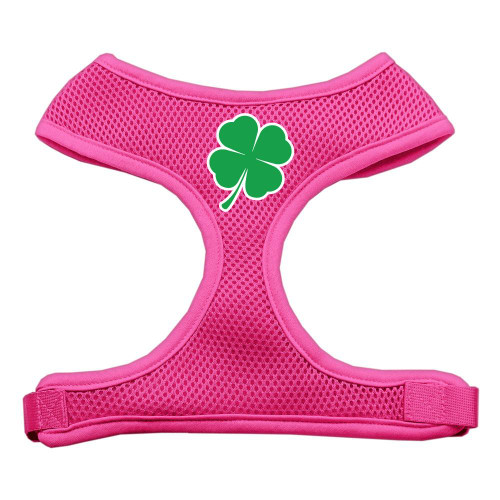 Shamrock Screen Print Soft Mesh Harness Pink Large
