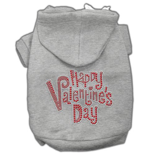 Happy Valentines Day Rhinestone Hoodies Grey S (10)