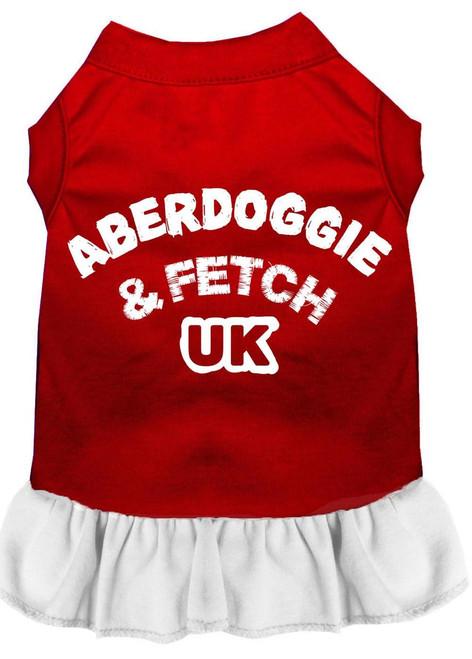 Aberdoggie Uk Screen Print Dress Red With White Xxxl (20)