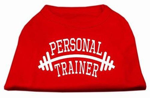 Personal Trainer Screen Print Shirt Red 6x (26)