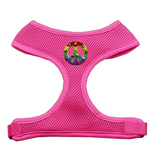 Rainbow Peace Sign Chipper Pink Harness Small