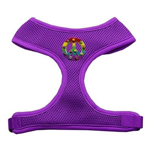 Rainbow Peace Sign Chipper Purple Harness Small