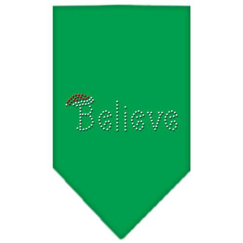Believe Rhinestone Bandana Emerald Green Large
