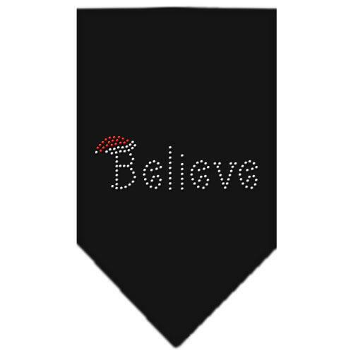 Believe Rhinestone Bandana Black Large