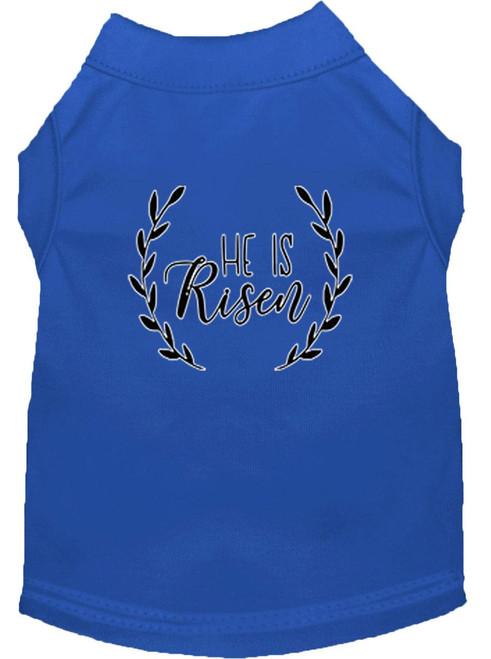 He Is Risen Screen Print Dog Shirt Blue Xxl (18)