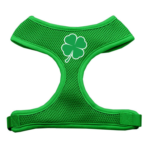 Shamrock Screen Print Soft Mesh Harness Emerald Green Large