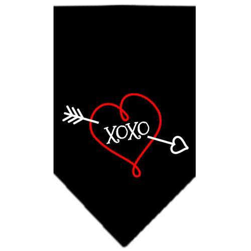 Xoxo Screen Print Bandana Black Large