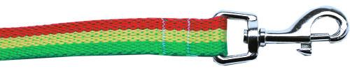 Rasta Bamboo Nylon Dog Collar 5/8 Wide 4ft Lsh