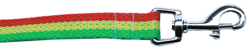 Rasta Bamboo Nylon Dog Collar 5/8 Wide 6ft Lsh