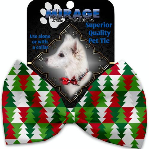 Classy Christmas Trees Pet Bow Tie