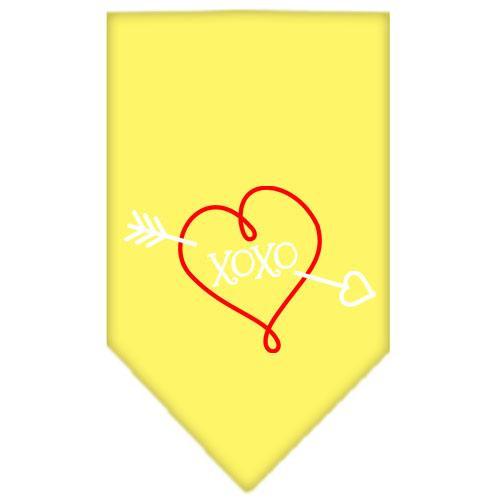 Xoxo Screen Print Bandana Yellow Large