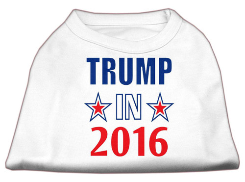 Trump In 2016 Election Screenprint Shirts White Med (12)