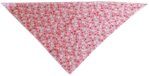 Pink Scottie Tie-on Pet Bandana Size Large