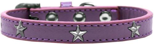 Silver Star Widget Dog Collar Lavender Size 18