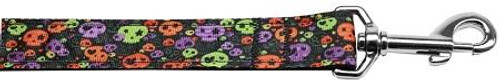Confetti Skulls Nylon Dog Leash 4 Foot