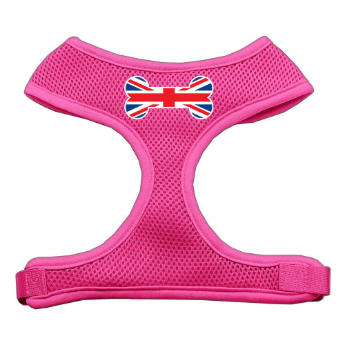 Bone Flag Uk Screen Print Soft Mesh Harness Pink Large