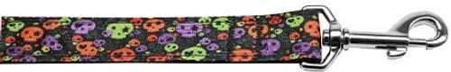 Confetti Skulls Nylon Dog Leash 6 Foot