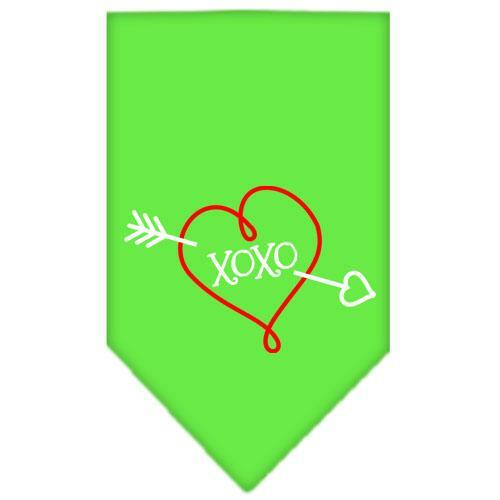 Xoxo Screen Print Bandana Lime Green Large