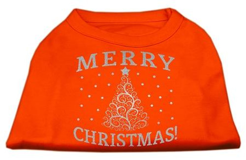 Shimmer Christmas Tree Pet Shirt Orange Xxxl (20)
