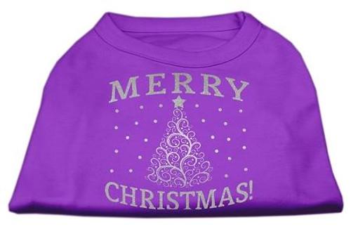 Shimmer Christmas Tree Pet Shirt Purple Xxxl (20)