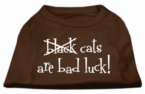 Black Cats Are Bad Luck Screen Print Shirt Brown Xxl (18)