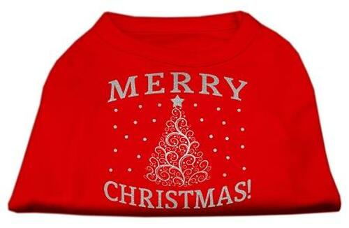 Shimmer Christmas Tree Pet Shirt Red Xxxl (20)