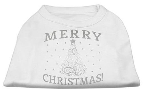 Shimmer Christmas Tree Pet Shirt White Xxxl (20)
