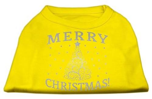 Shimmer Christmas Tree Pet Shirt Yellow Xxxl (20)