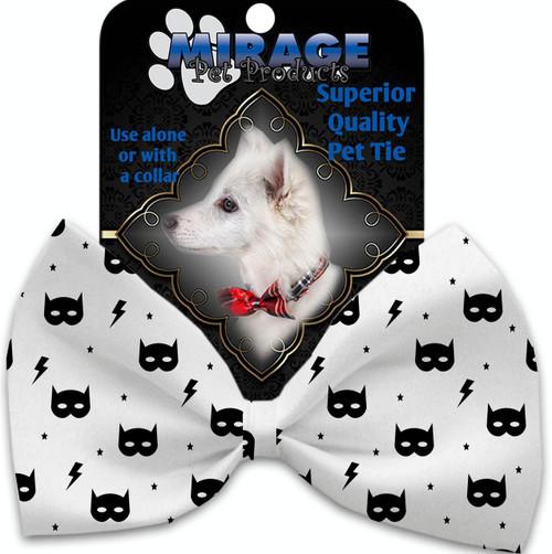 Super Hero Masks Pet Bow Tie