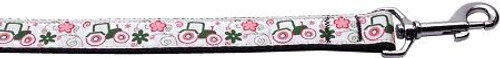 Pink Tractors 1 Inch Wide 4ft Long Leash