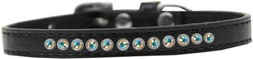 Ab Crystal Size 8 Black Puppy Collar