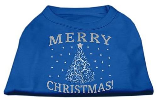 Shimmer Christmas Tree Pet Shirt Blue Xxxl (20)