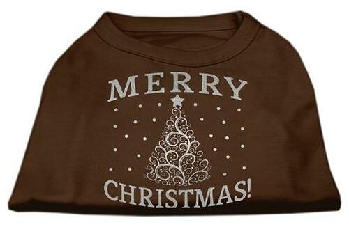Shimmer Christmas Tree Pet Shirt Brown Xxxl (20)