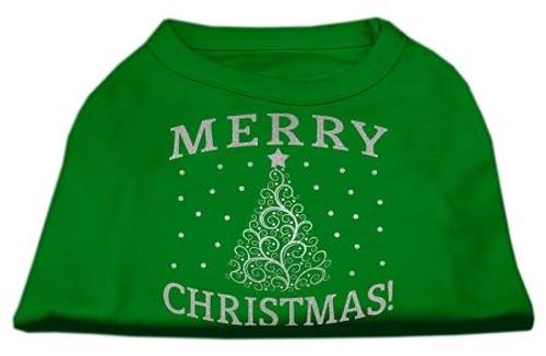 Shimmer Christmas Tree Pet Shirt Emerald Green Xxxl (20)