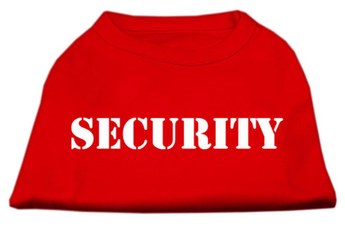 Security Screen Print Shirts Red 5x (24)