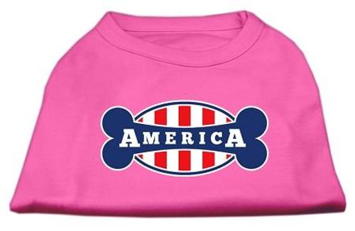 Bonely In America Screen Print Shirt Bright Pink Xxxl (20)