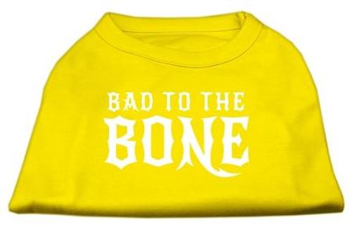 Bad To The Bone Dog Shirt Yellow Xs (8)