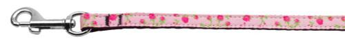Roses Nylon Ribbon Leash Light Pink 3/8 Wide 6ft Long - 125-020 3806LPK