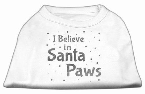 Screenprint Santa Paws Pet Shirt White Xl (16)