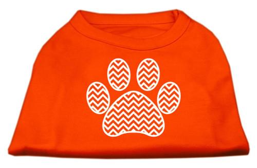 Chevron Paw Screen Print Shirt Orange Xxl (18)