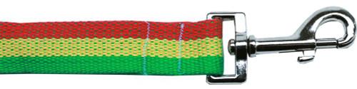 Rasta Bamboo Nylon Dog Collar 1 Wide 4ft Lsh