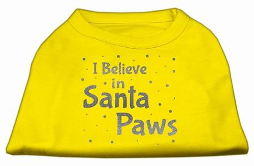 Screenprint Santa Paws Pet Shirt Yellow Xl (16)