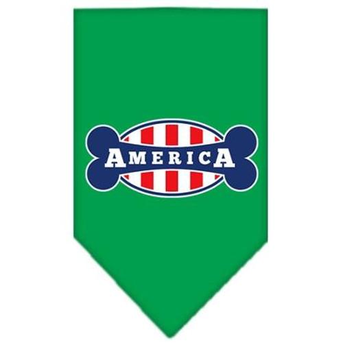 Bonely In America Screen Print Bandana Emerald Green Small
