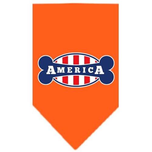 Bonely In America Screen Print Bandana Orange Small