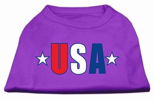 Usa Star Screen Print Shirt Purple Lg (14)