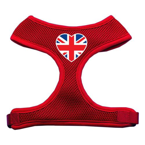 Heart Flag Uk Screen Print Soft Mesh Harness Red Large